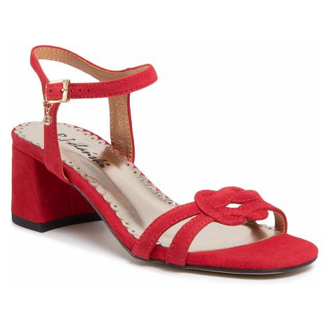 Sandały R.POLAŃSKI - 1122 Czerwony Zamsz R.Polański