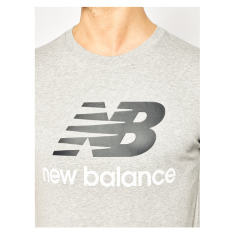 New Balance T-Shirt Essentials Stacked Logo Tee MT01575 Szary Athletic Fit