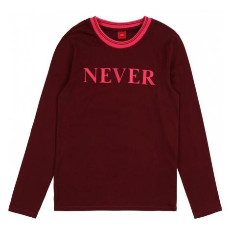 S.Oliver Junior Koszulka różowy / czerwone wino