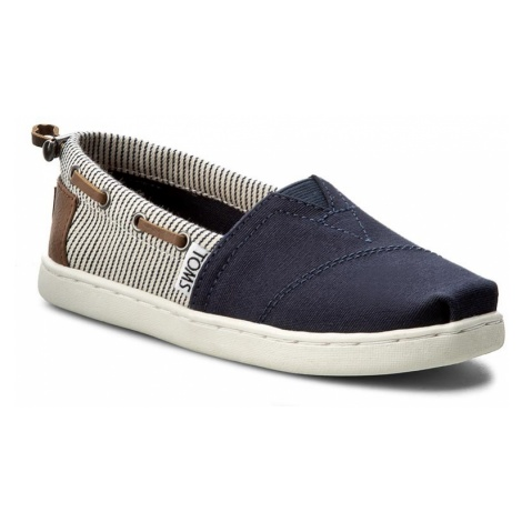 Półbuty TOMS - Bimini 10010049 Navy Canvas/Stripes