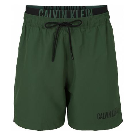 Calvin Klein Swimwear Szorty kąpielowe zielony