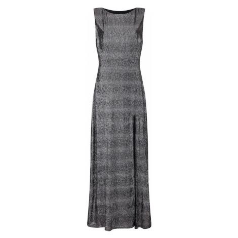Mela London Suknia wieczorowa 'SIDE SLIT SHIMMER MAXI DRESS' czarny