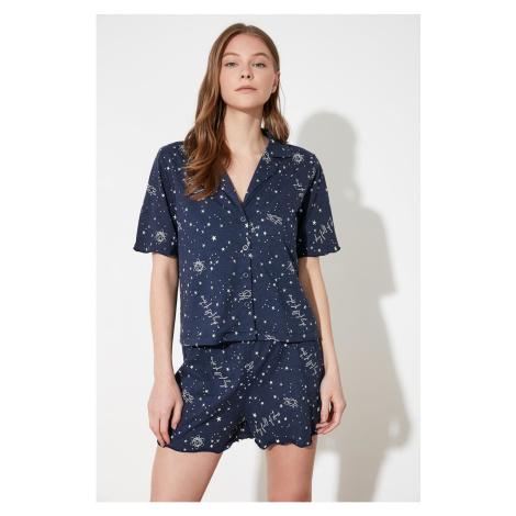 Trendyol Star wzorzysty dzianinowy zestaw piżamy