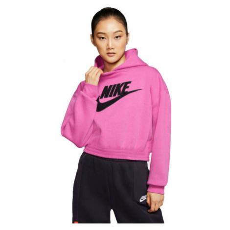 Nike NSW ICN CLSH FLC HOODIE BB W różowy S - Bluza damska