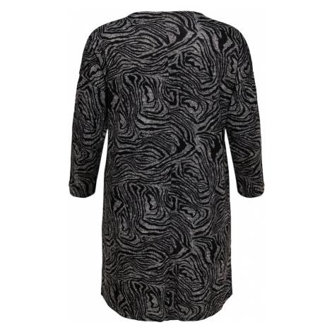 ONLY Carmakoma Sukienka 'CARALBA' czarny / biały