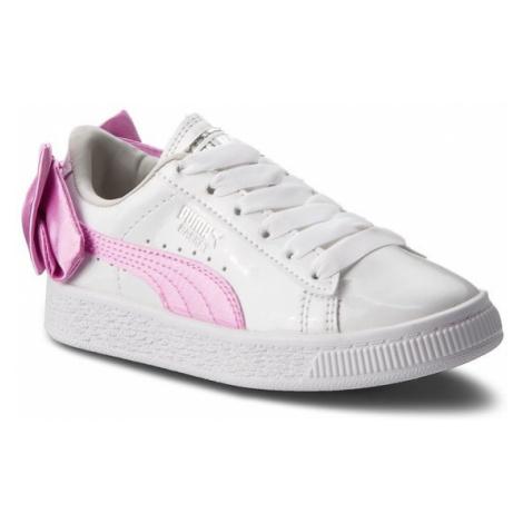 Puma Sneakersy Basket Bow Patent Ac Ps 367622 02 Biały
