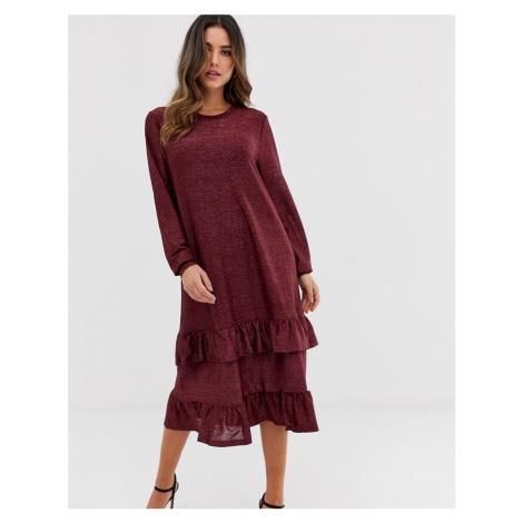 Ichi tiered midi dress