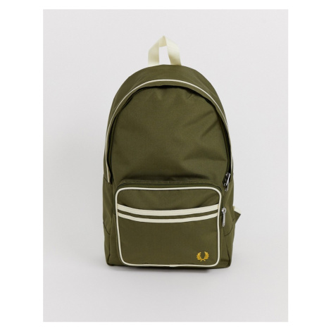 Fred Perry twin tipped backpack in green