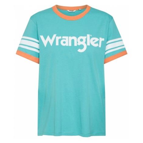 WRANGLER Koszulka 'Sporty Tee' turkusowy / jasnopomarańczowy