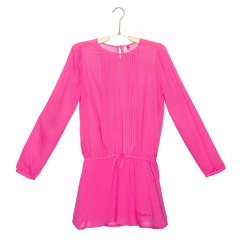 Pepe Jeans Sukienka dziecięca Różowy