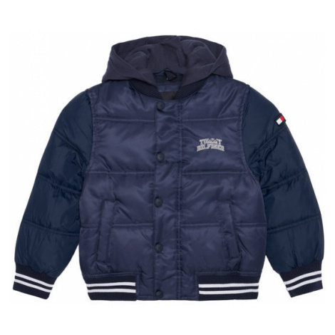Tommy Hilfiger Kurtka puchowa Hooded Padded Quil Ted KB0KB05991 M Granatowy Regular Fit
