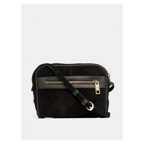 Black suede crossbody handbag Dorothy Perkins