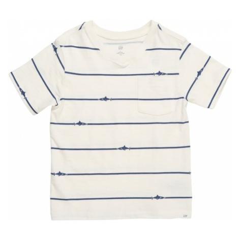 GAP Koszulka 'NOVELTY' niebieski / naturalna biel