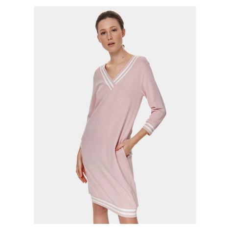 TOP SECRET różowa sukienka z kieszeniami