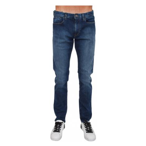 Armani Exchange, Pants Niebieski, male, rozmiary: