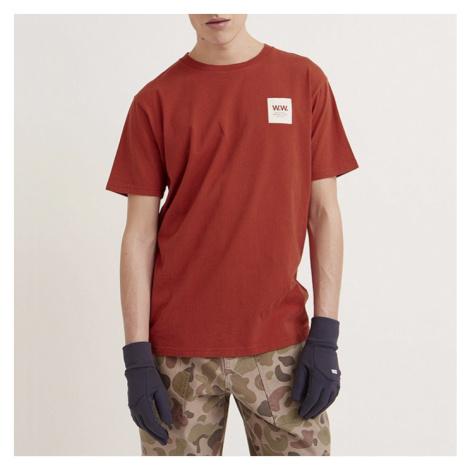 Koszulka męska Wood Wood Box T-shirt 11935724-2334 Rust