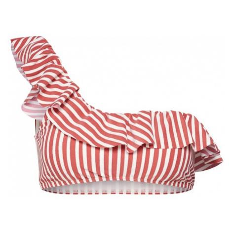 BILLABONG Góra bikini 'dos palmas ruffle' czerwony / biały