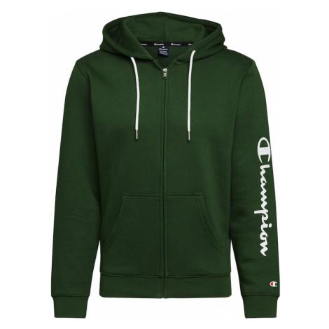 Champion Authentic Athletic Apparel Bluza rozpinana zielony / biały