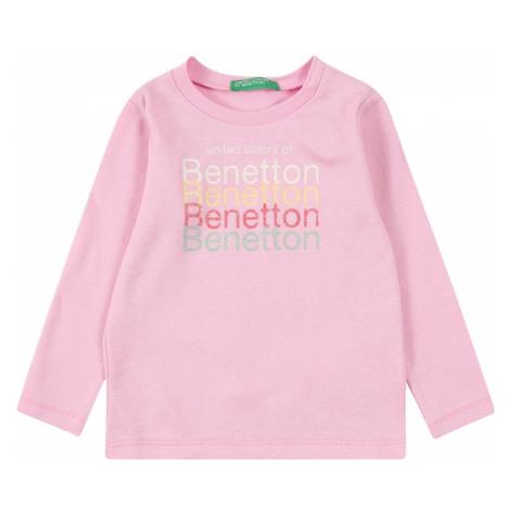 UNITED COLORS OF BENETTON Koszulka pastelowy róż / biały / pastelowy zielony / jasnopomarańczowy