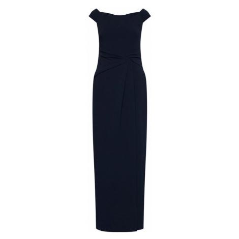 Lauren Ralph Lauren Sukienka wieczorowa Long Gown 253770013002 Granatowy Regular Fit