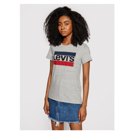 Levi's® T-Shirt The Perfect Graphic Tee 17369-0303 Szary Regular Fit Levi´s