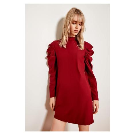 Trendyol Burgundy Handle Drawstring Dress