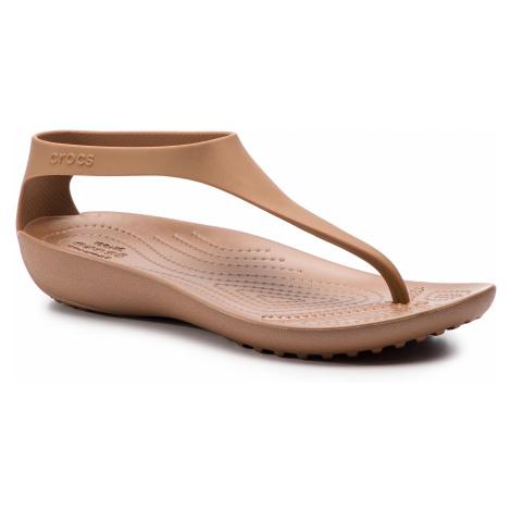Sandały CROCS - Serena Flip W 205468 Bronze/Bronze