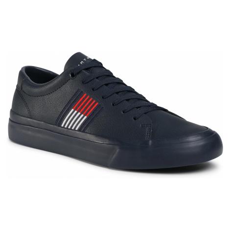 Sneakersy TOMMY HILFIGER - Corporate Leather Sneaker FM0FM02853 Rwb 0K9