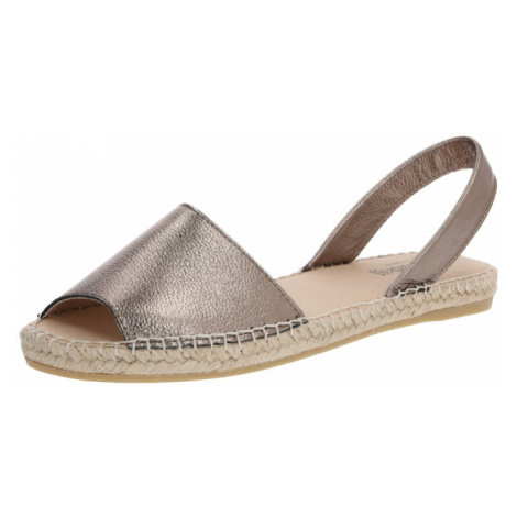 Espadrij l´originale Sandały z rzemykami 'Menorque Metallique' brąz