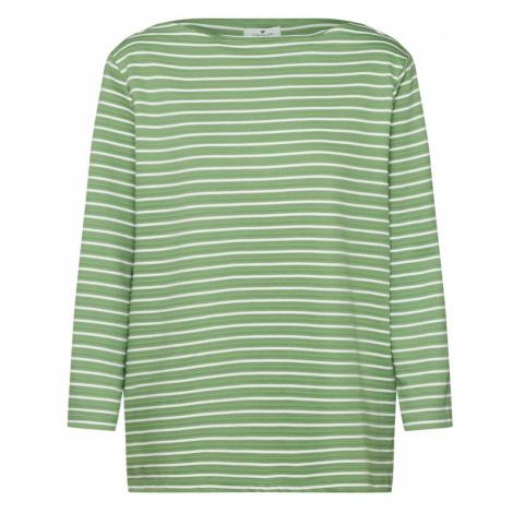 TOM TAILOR Bluzka sportowa biały / zielony