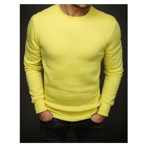 Bluza męska gładka żółta BX4372 DStreet