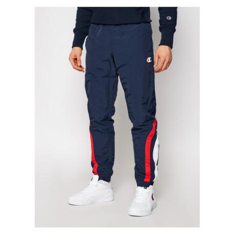 Champion Spodnie dresowe Logo Track 214264 Granatowy Custom Fit