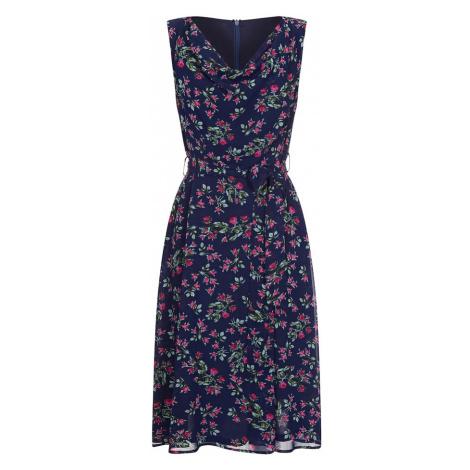Mela London Letnia sukienka ciemny niebieski