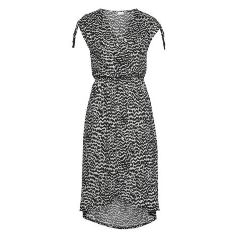 LASCANA Sukienka plażowa czarny / biały