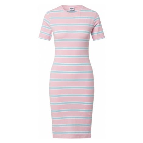 Urban Classics Sukienka różowy pudrowy / niebieski