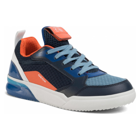 Sneakersy GEOX - J Grayjay B. F J029YF 014BU C0659 D Navy/Orange
