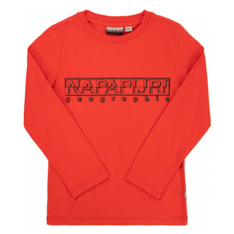 Napapijri Bluzka Soli N0YIWK Czerwony Regular Fit