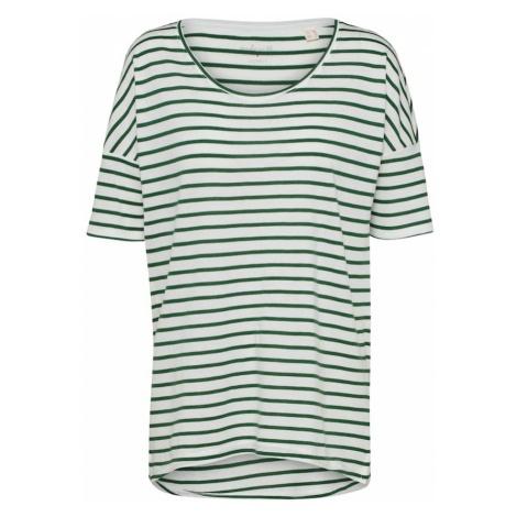 ESPRIT Koszulka ciemnozielony / biały