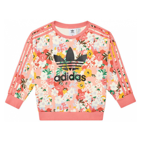Adidas Bluza HER Studio London Floral Crew GN4217 Różowy Loose Fit