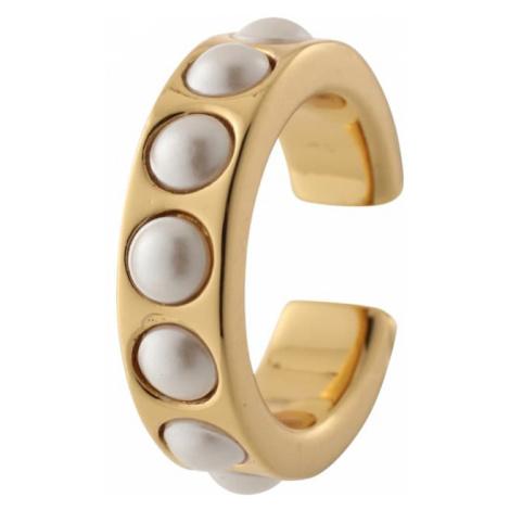 Orelia Kolczyki 'Chunky Pearl Single Ear Cuff' złoty / perłowo biały