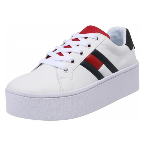Tommy Jeans Trampki niskie 'Roxie 4A' niebieski / czerwony / biały Tommy Hilfiger
