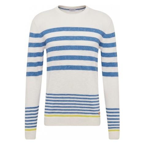 ESPRIT Sweter niebieski / biały