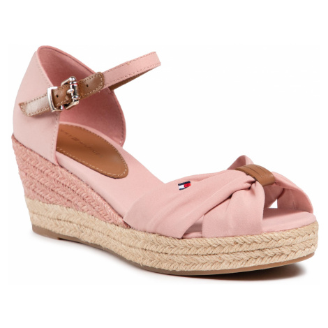Espadryle TOMMY HILFIGER - Basic Open Toe Mid Wedge FW0FW04785 Soothing Pink TQS