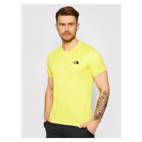 The North Face T-Shirt Reaxion Red Box NF0A4CDWDW91 Żółty Regular Fit