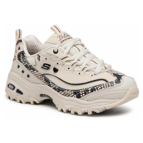 Sneakersy SKECHERS - D'Lites-Lightning Petals 149111/NTBK Natural/Black