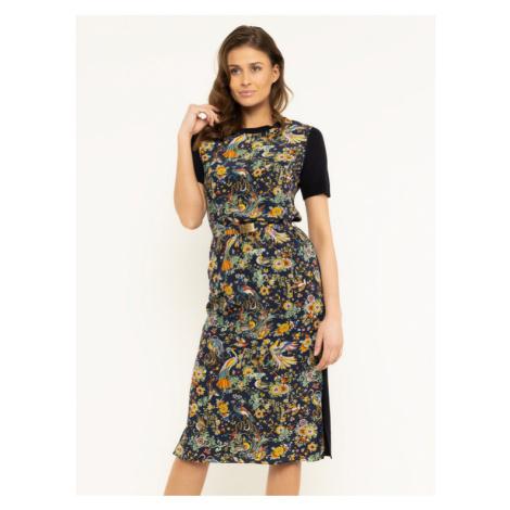 Tory Burch Sukienka codzienna Printed 61351 Granatowy Regular Fit