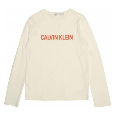 Calvin Klein Jeans Koszulka 'LOGO REGULAR LS TEE' biały