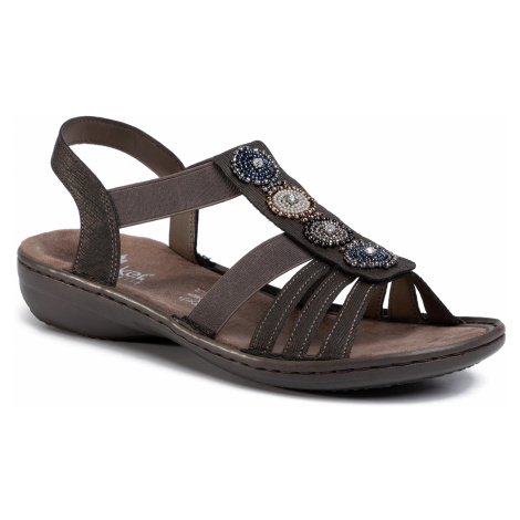 Sandały RIEKER - 608G9-45 Grau