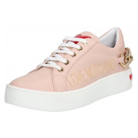 Love Moschino Trampki niskie 'JA1552' biały / różowy pudrowy
