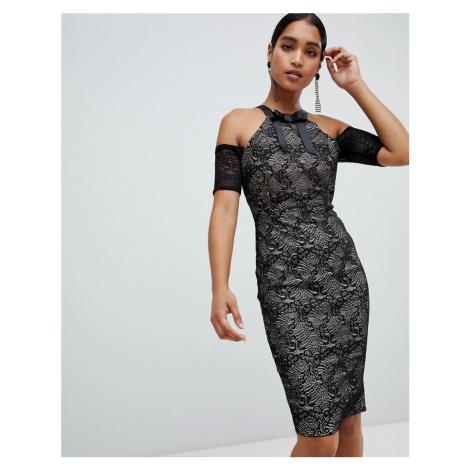 Vesper cold shoulder pencil midi dress